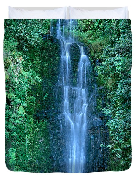 Maui Waterfall Duvet Cover by Bill Brennan - Printscapes