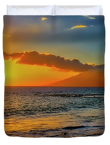 Maui Wedding Beach Sunset  Duvet Cover