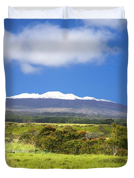 Mauna Kea Duvet Cover by Peter French - Printscapes