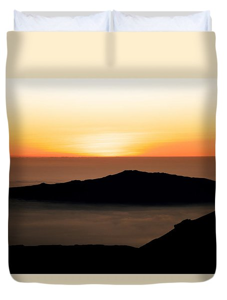 Mauna Kea Sunset Duvet Cover
