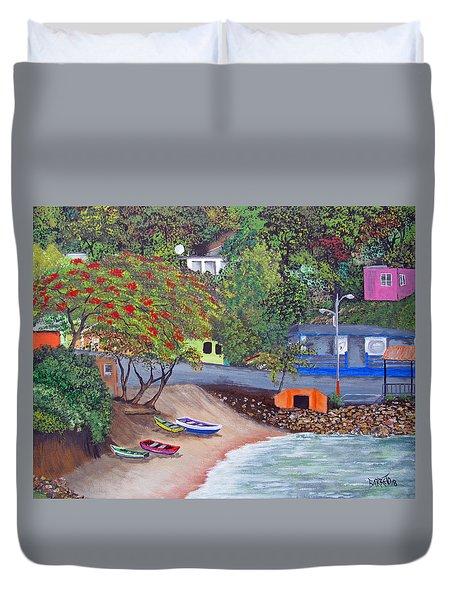 Maunabo Pescaderia Duvet Cover