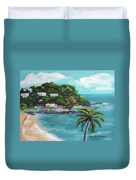 Maunabo Puerto Rico Duvet Cover by Luis F Rodriguez