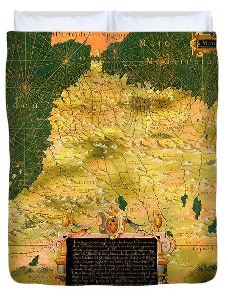 Mauritania, Mali, Morocco And Algeria Duvet Cover