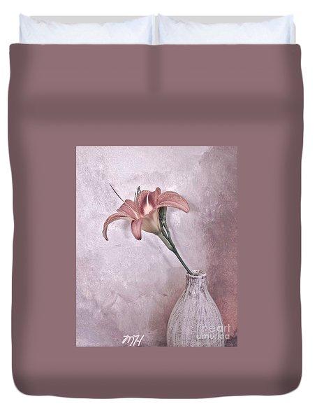 Mauve Lily Duvet Cover by Marsha Heiken