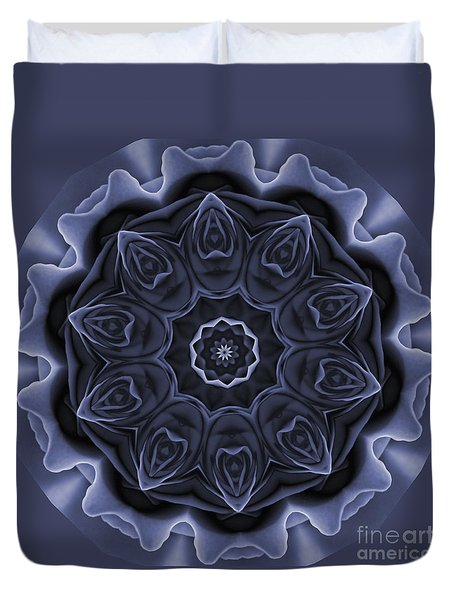 Mauve Rose Mandala Duvet Cover