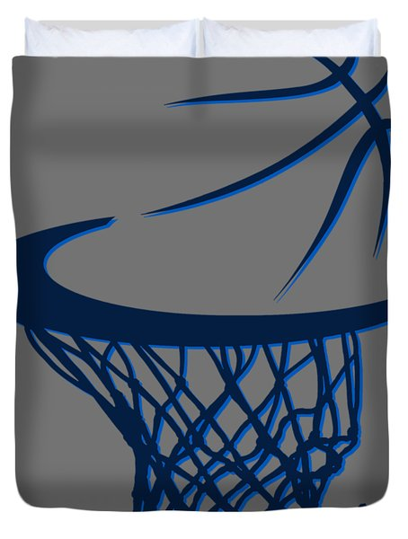 Mavericks Basketball Hoops Duvet Cover