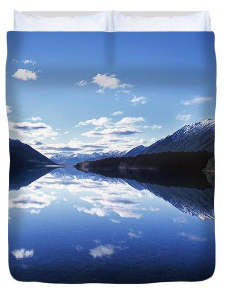 South Mavora Lake, Southland, New Zealand. Duvet Cover