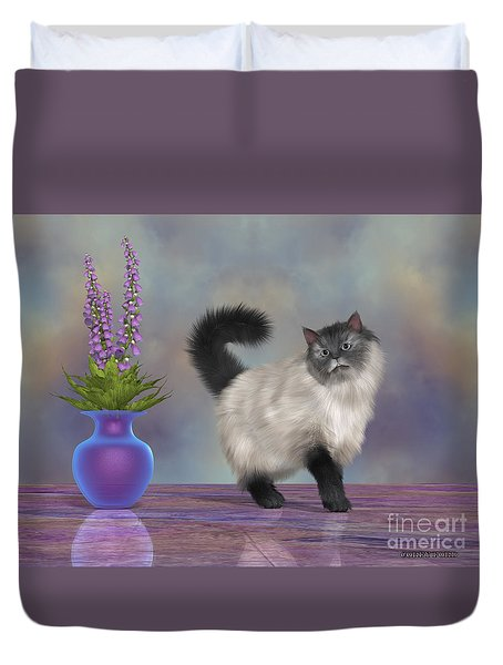 Max The House Cat Duvet Cover by Corey Ford