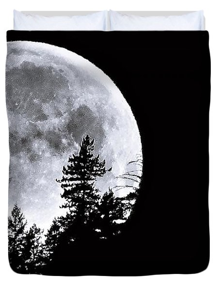 May 4 Moon Set Duvet Cover