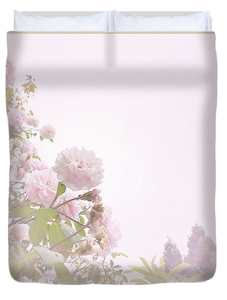 Duvet Cover featuring the photograph May Basket Day by Cindy Garber Iverson
