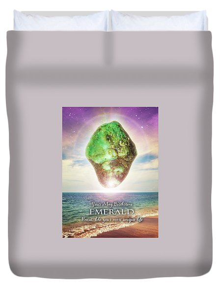 May Birthstone Emerald Duvet Cover