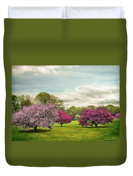Duvet Cover featuring the photograph May Meadow by Jessica Jenney