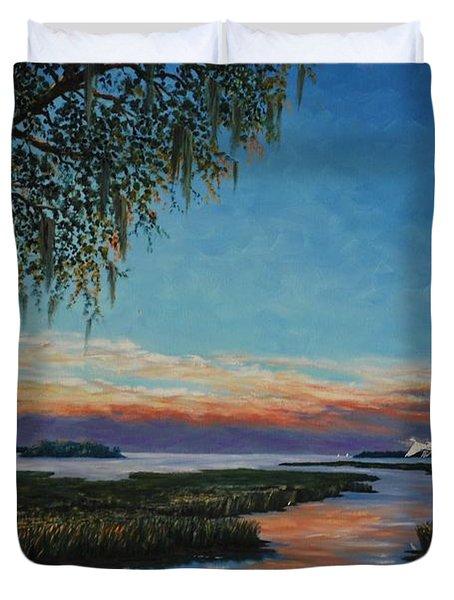 May River Sunset Duvet Cover
