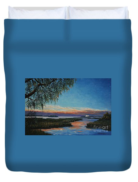 May River Sunset Duvet Cover