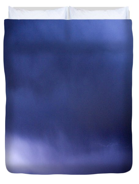 May Showers 3 In Color - Lightning Thunderstorm 5-10-2011 Boulde Duvet Cover by James BO  Insogna