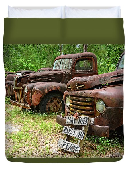 May They Rust In Peace Duvet Cover