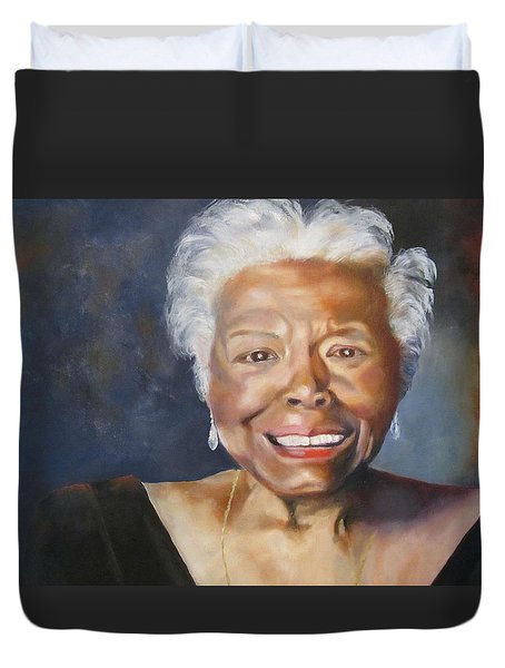 Maya Angelou Duvet Cover by Lisa Boyd