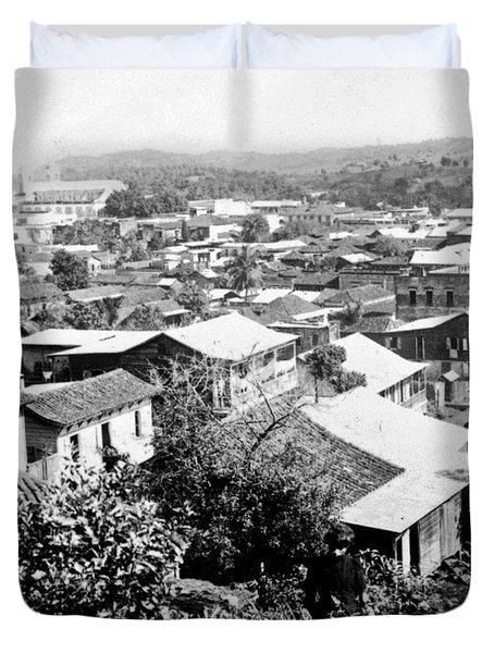 Mayaguez - Puerto Rico - C 1900 Duvet Cover by International  Images
