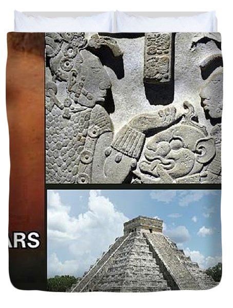 Mayan Olmec Duvet Cover