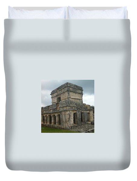 Mayan Stone Homes  Duvet Cover