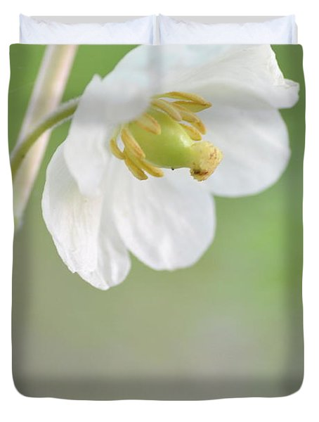Mayapple Flower Duvet Cover