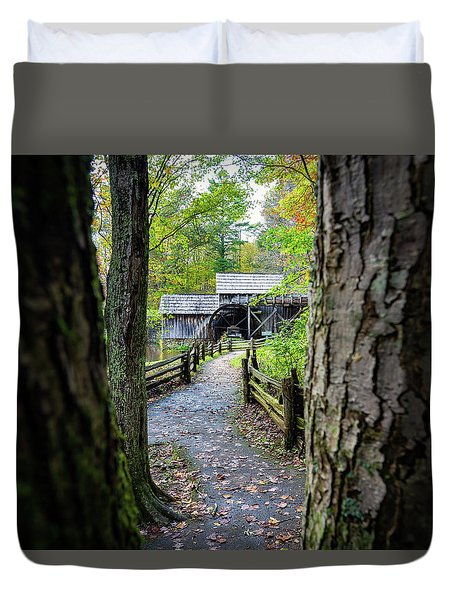 Maybry Mill Through The Trees Duvet Cover