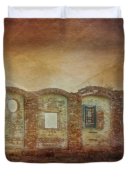 Mayfair Mills Ruins Easley South Carolina Duvet Cover