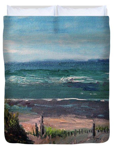 Mayflower Beach Duvet Cover