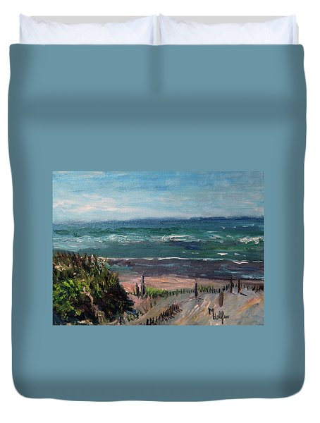 Mayflower Beach Duvet Cover