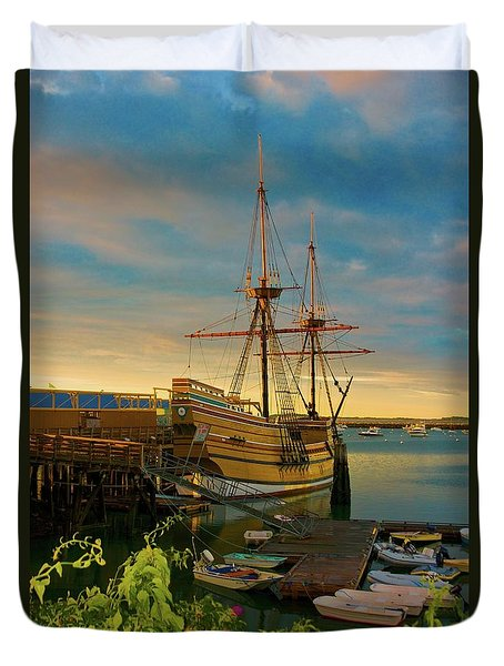 Mayflower II Duvet Cover by Amazing Jules