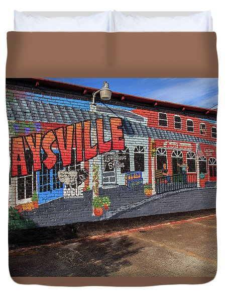 Duvet Cover featuring the photograph Maysville Mural by Doug Camara