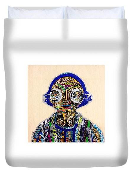 Maz Kanata Star Wars Awakens Afrofuturist Colection Duvet Cover by Apanaki Temitayo M