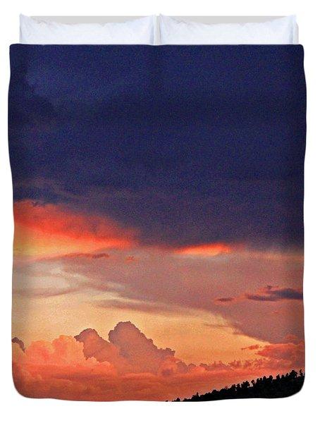 Mazatzal Peak Sunset Duvet Cover
