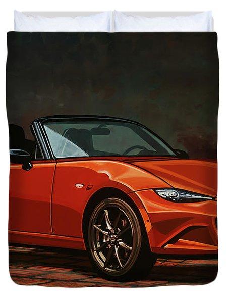 Mazda Mx-5 Miata 2015 Painting Duvet Cover