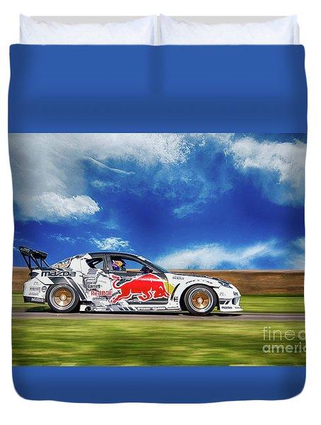 Mazda Rx7 Drift Duvet Cover