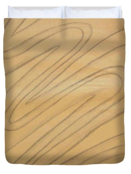 Maze Of Life Drawing Duvet Cover
