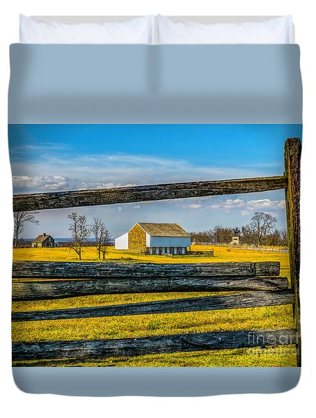 Duvet Cover featuring the photograph Mc Pherson Barn - Gettysburg National Park by Nick Zelinsky