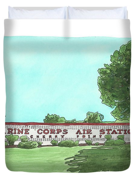 Mcas Cherry Point Welcome Duvet Cover