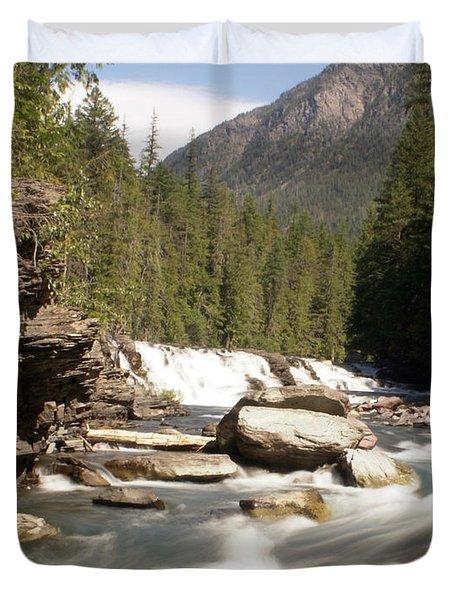 Mcdonald Creek Duvet Cover by Marty Koch