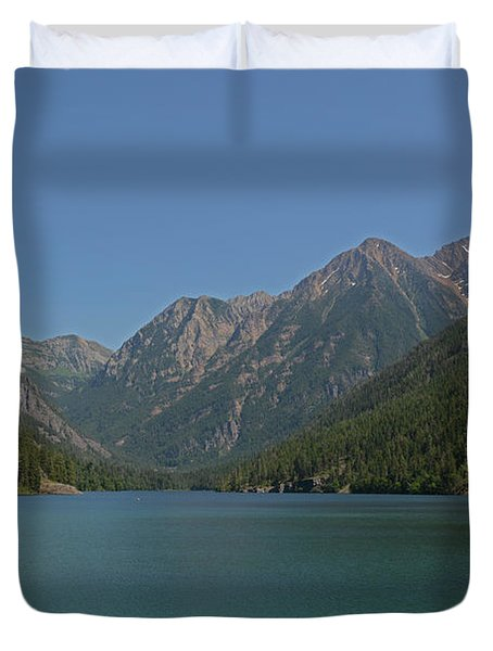Mcdonald Lake- Ronan Montana Duvet Cover
