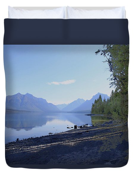 Duvet Cover featuring the photograph Mcdonald Lake by Susan Crossman Buscho
