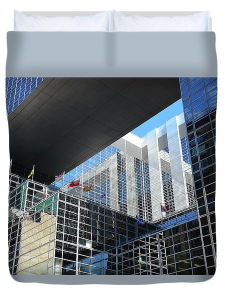 Duvet Cover featuring the photograph Mcgee Building  Ottawa by John Schneider