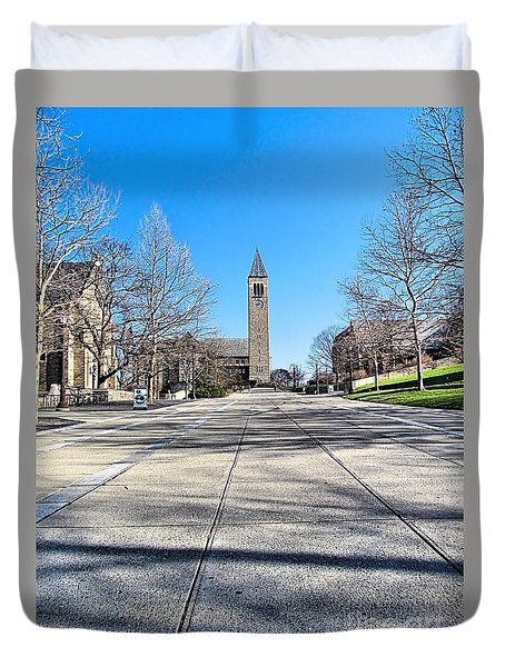 Mcgraw Tower  Duvet Cover by Elizabeth Dow