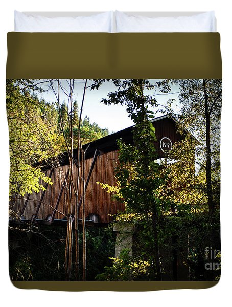 Duvet Cover featuring the photograph Mckee Bridge by Jim Adams
