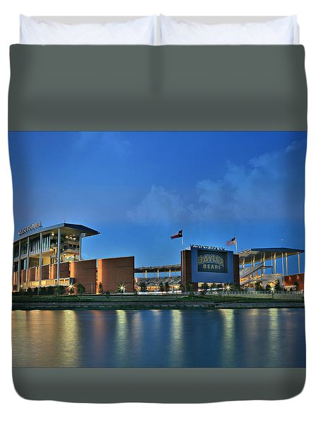 Mclane Stadium -- Baylor University Duvet Cover by Stephen Stookey