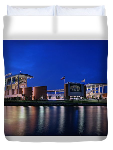 Mclane Stadium Evening Duvet Cover by Stephen Stookey