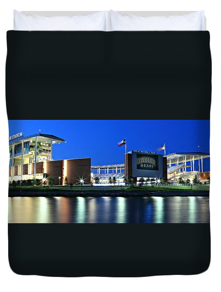 Mclane Stadium Panoramic Duvet Cover by Stephen Stookey