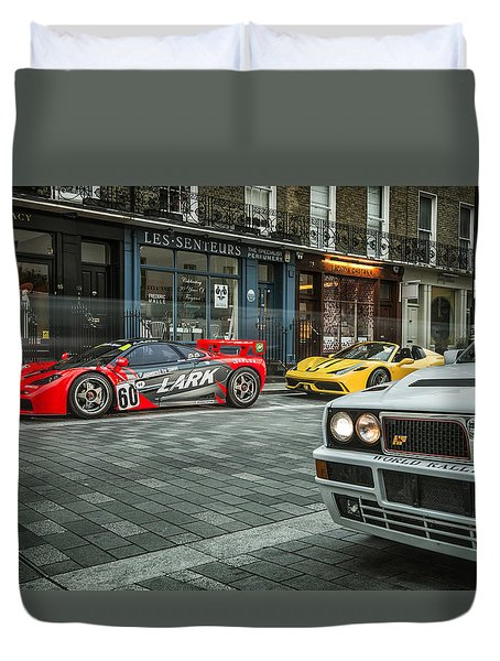 Mclaren F1 Gtr With Speciale And Integrale  Duvet Cover