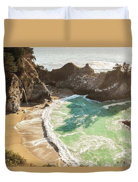 Mcway Falls, California Duvet Cover