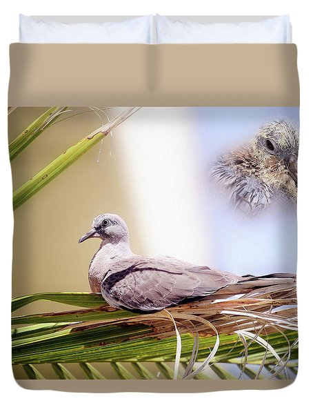 Me All Grown Up 01 Duvet Cover by Kevin Chippindall
